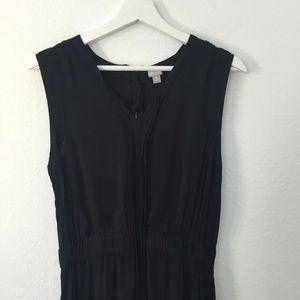 Converse one star V Neck Dress Black Exposed Zip